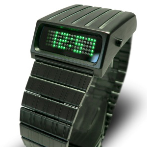 90-dot-matrix-led-black-stainless-steel-watch