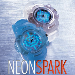 NeonSpark EL flashing watch