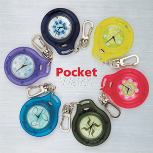 Pocket EL flashing watch